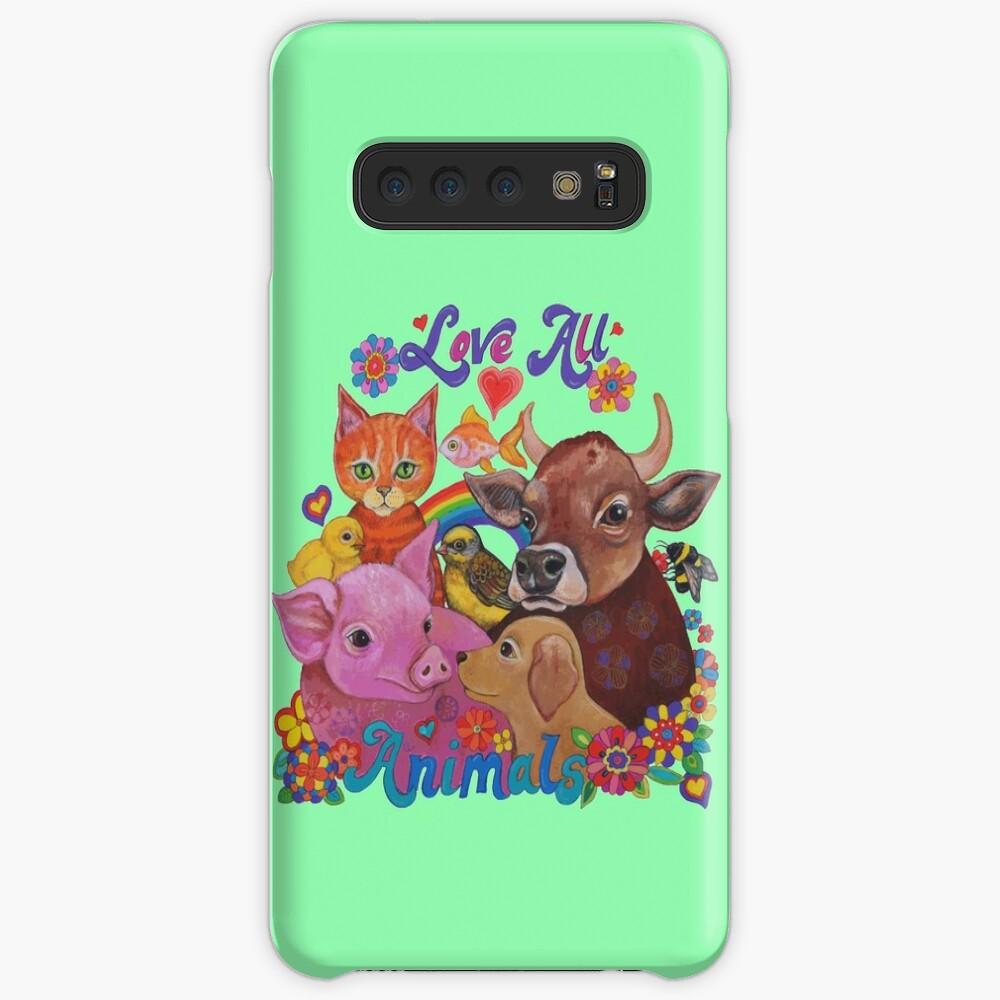Amo a todos los animales Funda y vinilo para Samsung Galaxy