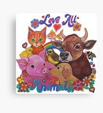 Love all Animals  Canvas Print