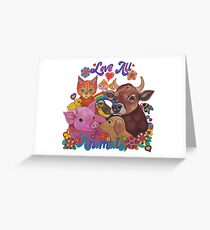Love all Animals  Greeting Card
