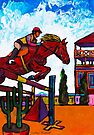 Horse Jumping  by Juhan Rodrik