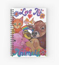 Love all Animals  Spiral Notebook