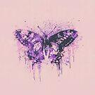Artsy Butterfly Mixed Media Art by artsandsoul