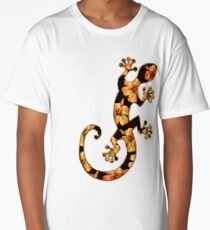 Gecko, lizard, Hawaii, aloha, surf, beach, summer, party, water sports Long T-Shirt
