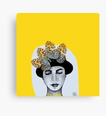 Butterfly Hat Canvas Print