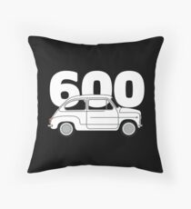 600 White (dark) Throw Pillow
