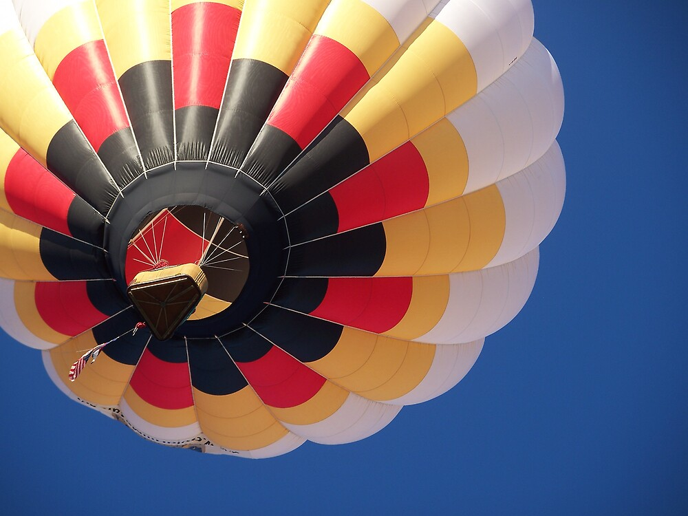 Red, Black, Yellow, and White Balloon by Nora Ward