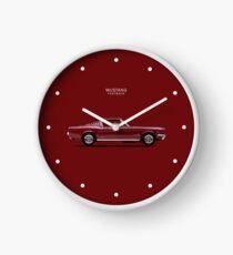 Mustang Fastback Clock