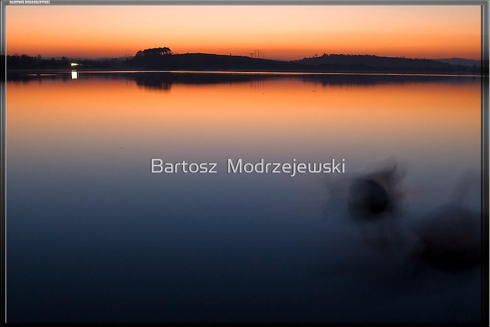 Sunset @ Ballyalla Lake  by Bartosz  Modrzejewski
