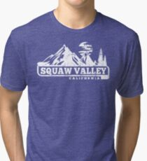 Vintage Squaw Valley California Mountain Tees Tri-blend T-Shirt