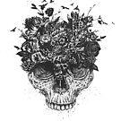 My head is a jungle (b&w) by soltib