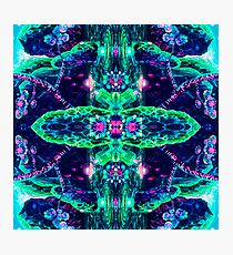Abstract fantasy, mystical pattern of the night world.  Photographic Print