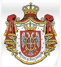 Serbia coat of arms Poster