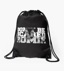 scared Drawstring Bag