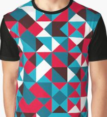 pattern background of colorful triangles Graphic T-Shirt