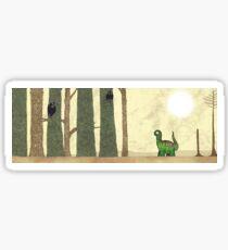 Sauropod in the woods Sticker
