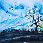 Birds above the hill by Kissart