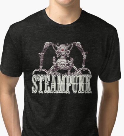 Steampunk / Cyberpunk Robot Steampunk T-Shirts Tri-blend T-Shirt