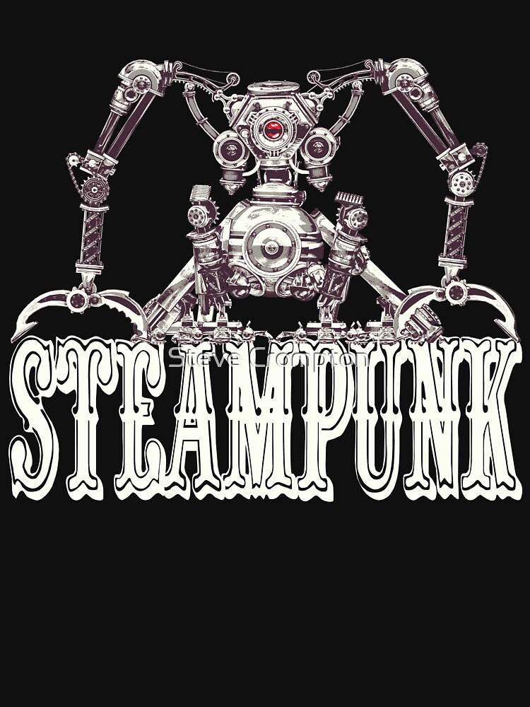 Steampunk / Cyberpunk Robot Steampunk T-Shirts by SC001