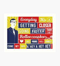 Everyday - Buddy Holly Art Print
