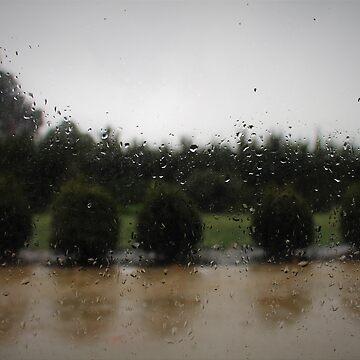 Rain on the window by JustBuyMyStuff