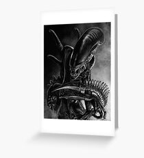 Xenomorph Greeting Card