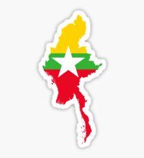 Flag of Myanmar Sticker