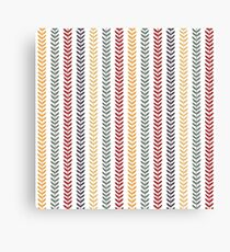 Simple autumn abstract leaf pattern. Seamless doodle background. Vector illustration. Canvas Print