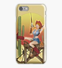 Yeehaw Classic Cowgirl Pin Up iPhone Case/Skin