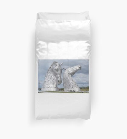 The Kelpies gifts , Helix Park, Scotland Duvet Cover