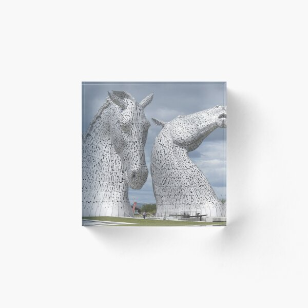 The Kelpies gifts , Helix Park, Scotland Acrylic Block