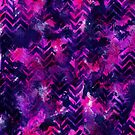 Pink Chevron Ink Spill by inkedinred
