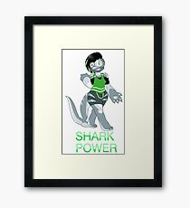 Shark Power! Framed Print