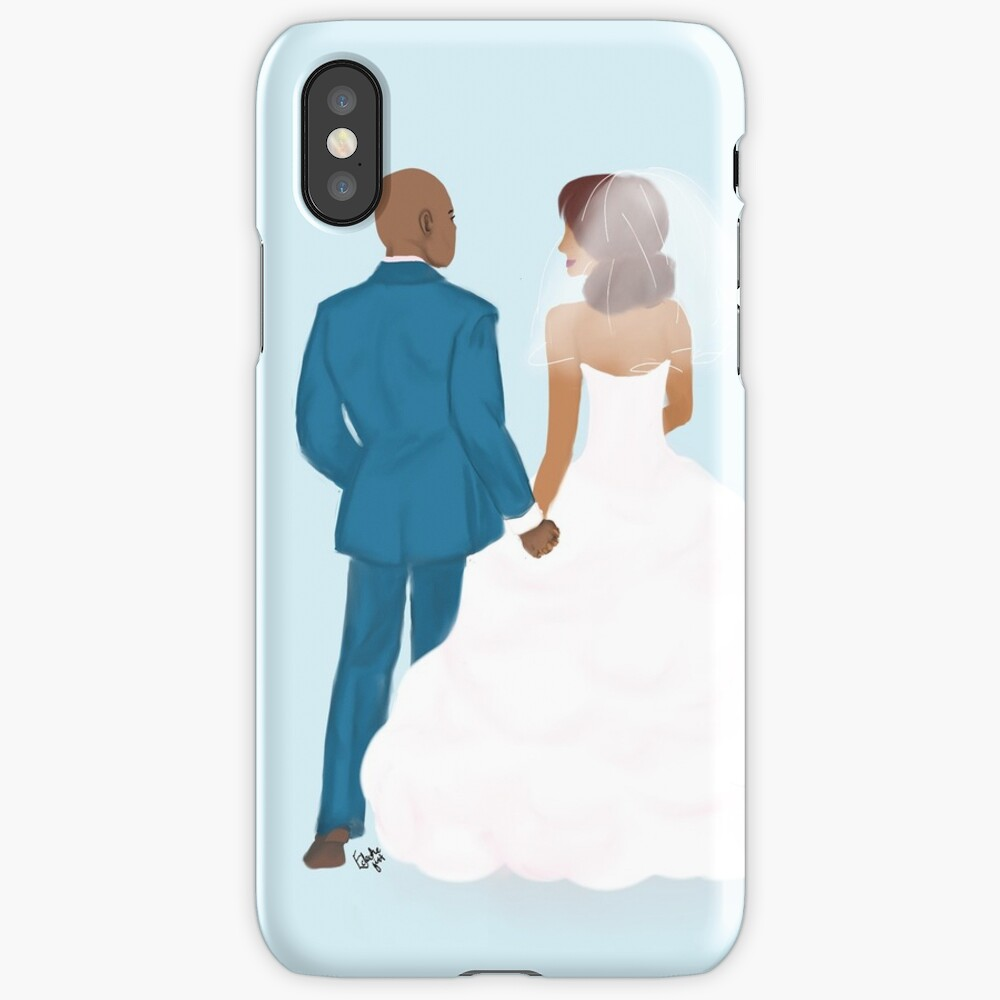 Just me and you - Wedding couple iPhone Case & Cover