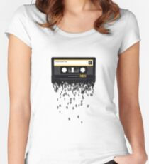 The death of the cassette tape. Fitted Scoop T-Shirt