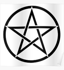 Pentacle, Pentagram, Witch, Wizard, WICCA, Modern, Pagan, Witchcraft, Religion, Cult Poster