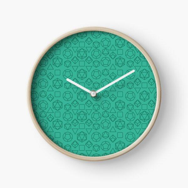 Green Dice - Pattern! Clock