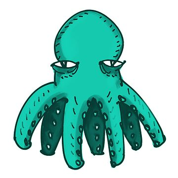 ugly octopus funny cartoon by anticute