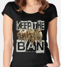 KEEP the BAN  Women's Fitted Scoop T-Shirt