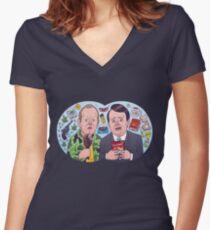 Peep Show - Mark and Jez Lense Cartoon Women's Fitted V-Neck T-Shirt