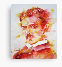 NIKOLA TESLA - watercolor portrait.4 Canvas Print