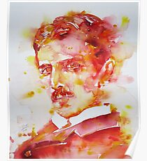 NIKOLA TESLA - watercolor portrait.4 Poster