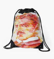 NIKOLA TESLA - watercolor portrait.4 Drawstring Bag