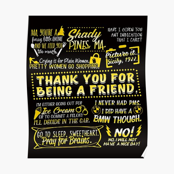 Golden Quotes Poster