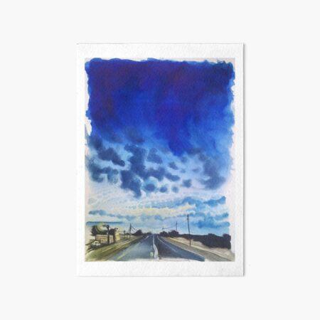 blue highway. Art Board Print