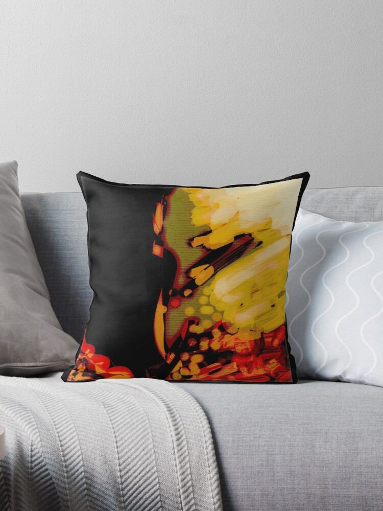 Organic, black, red, orange  abstract, modern gifts and decor by ackelly4