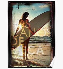 Beach Surfer Girl Typography Poster