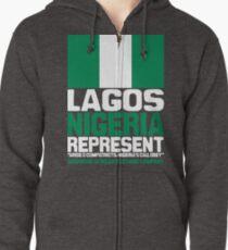 Lagos, Nigeria, represent Zipped Hoodie