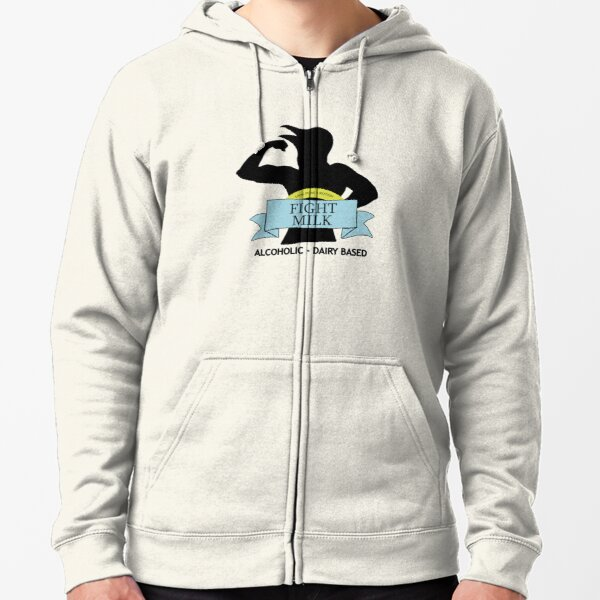 fight milk Zipped Hoodie