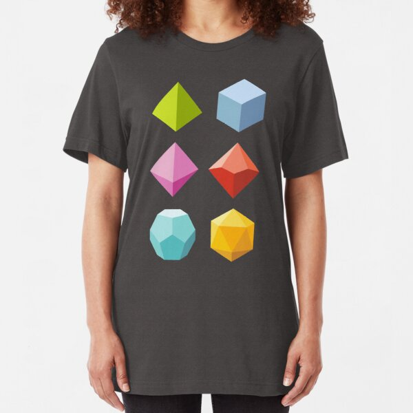 Roll Color - Dungeons & Dragons Line Art Series Slim Fit T-Shirt