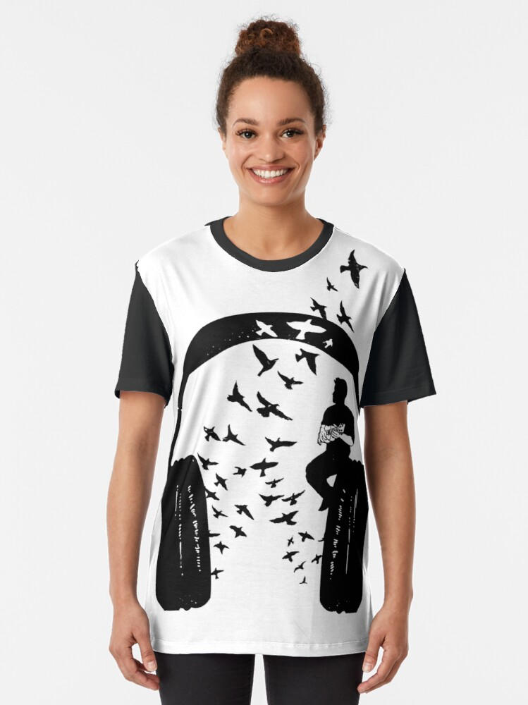 Alternate view of Headphone - Ukulele Graphic T-Shirt